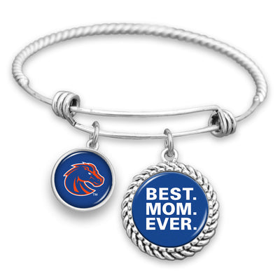 Boise State Broncos Best Mom Ever Charm Bracelet
