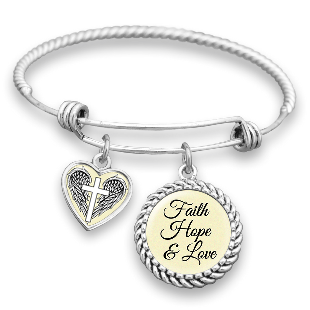 Faith, Hope & Love Charm Bracelet