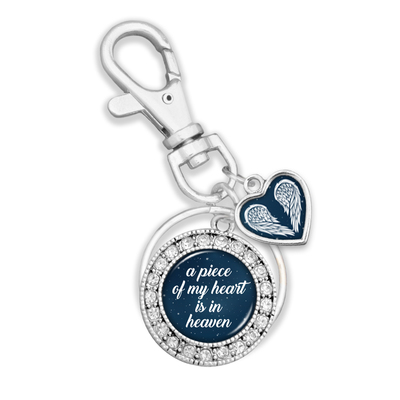 Piece Of My Heart Night Sky Charm Key Chain