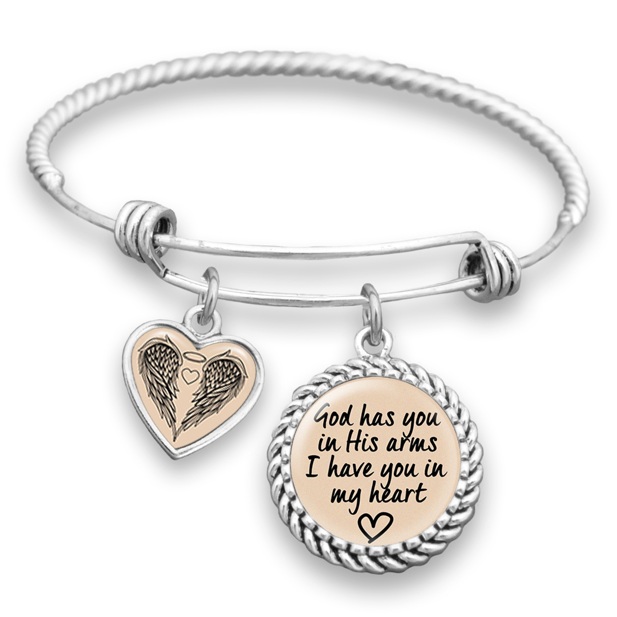 God Has You In His Arms Charm Bracelet