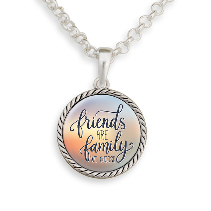 Friends Are Family We Choose Necklace