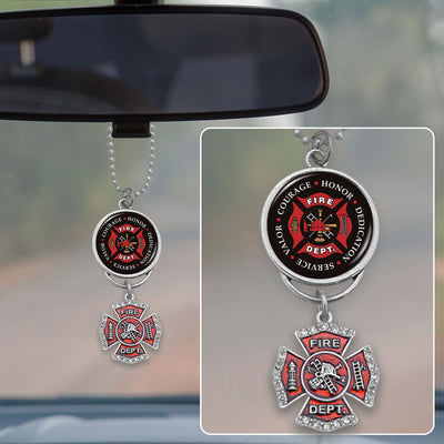 Firefighter Seal Of Honor Rearview Mirror Charm