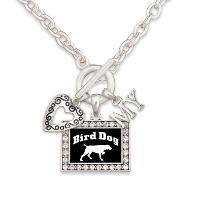 Bird Dog  3 Charm Necklace