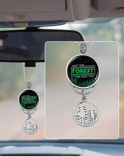 May The Forest Be With You Rearview Mirror Charm