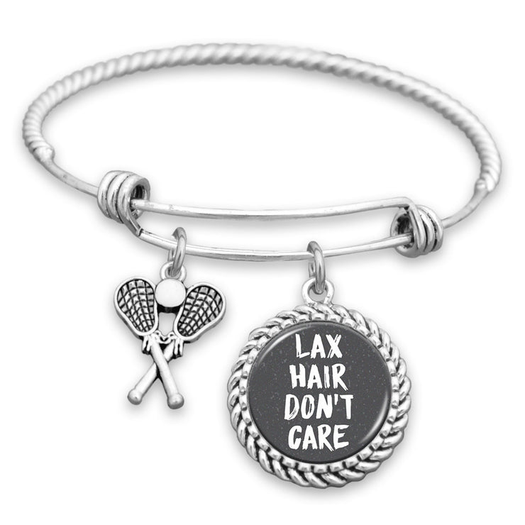 LAX Hair, Don't Care Charm Bracelet