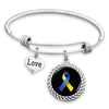 Down Syndrome Awareness Ribbon Love Charm Bracelet