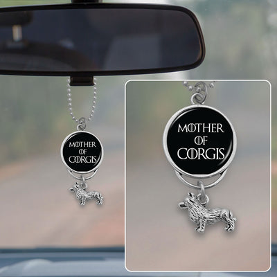 Mother Of Corgis Rearview Mirror Charm