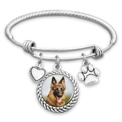 German Shepherd Dog Photo Charm Bracelet