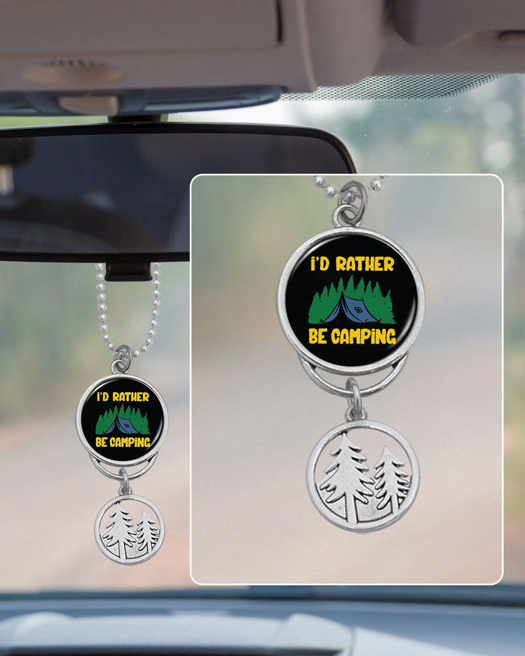 I'd Rather Be Camping Rearview Mirror Charm