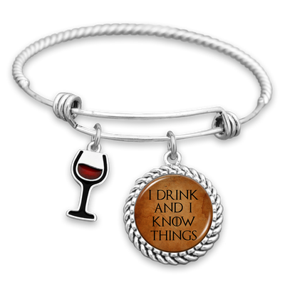 I Drink And I Know Things Charm Bracelet