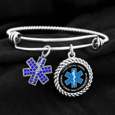 I Can Do All Things Through Christ Star Of Life Charm Bracelet