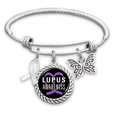 Lupus Awareness Charm Bracelet