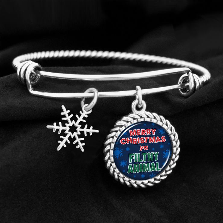 Merry Christmas Ya Filthy Animal Charm Bracelet