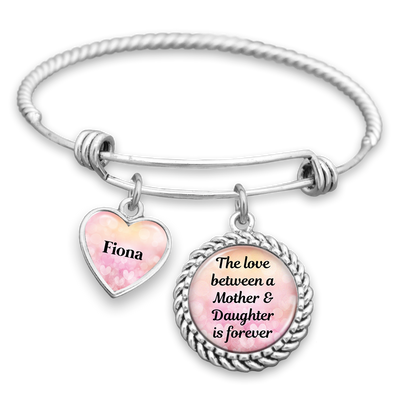 Customizable Love Between Mother & Daughter Is Forever Charm Bracelet