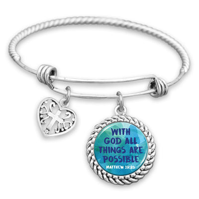 With God All Things Are Possible Charm Bracelet