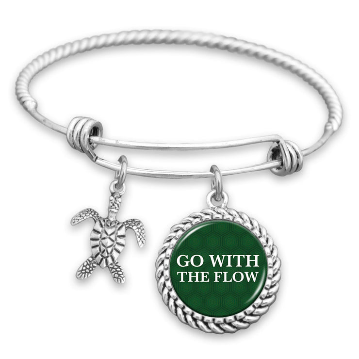 Go With The Flow Turtle Charm Bracelet