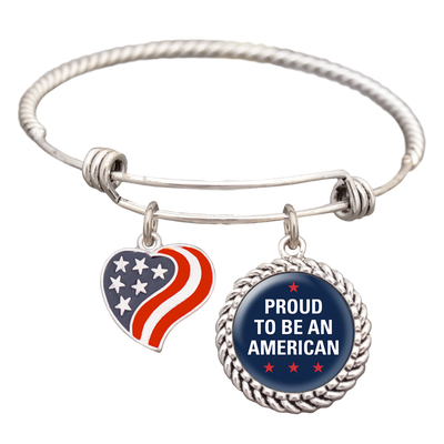 Proud To Be An American Charm Bracelet