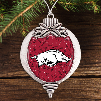 Arkansas Razorbacks Holiday Bulb Ornament