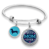 Best Mom Ever Dachshund Charm Bracelet