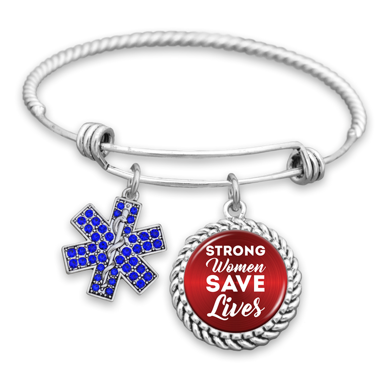 Strong Women Save Lives Charm Bracelet