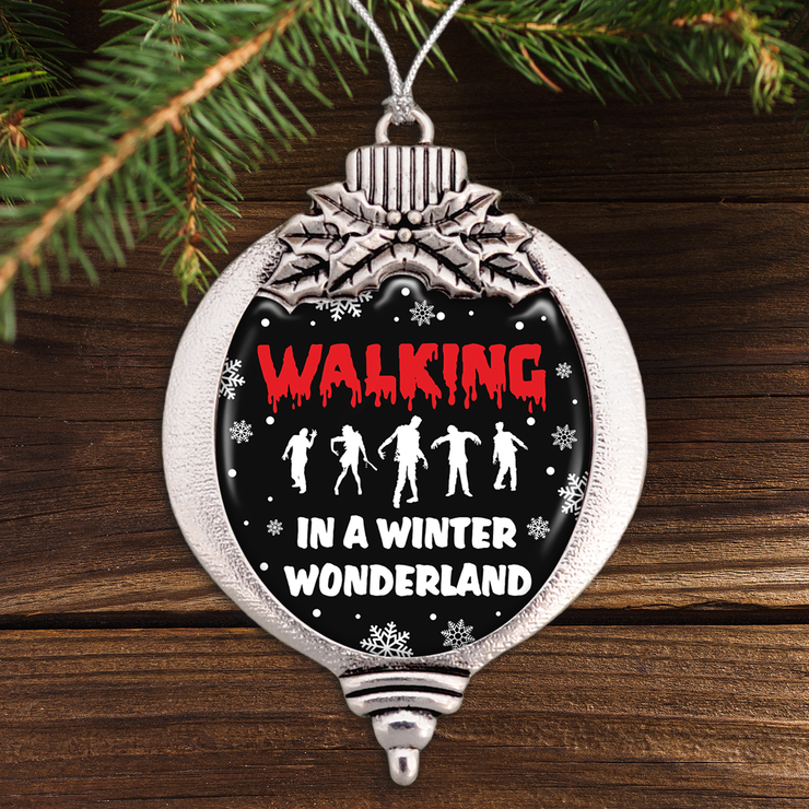 Walking In A Winter Wonderland Zombie Bulb Ornament