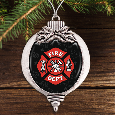 Firefighter Crest Bulb Ornament
