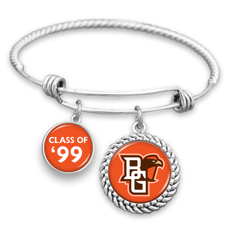 "Customizable Graduation Year ""Class Of"" Bowling Green Falcons Charm Bracelet"