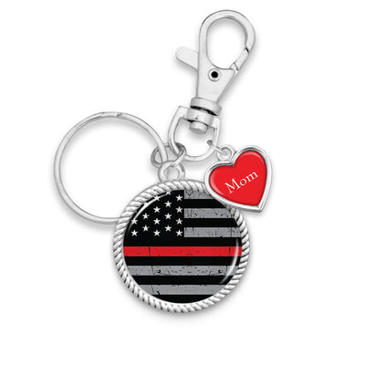 Customizable Thin Red Line Flag Key Chain