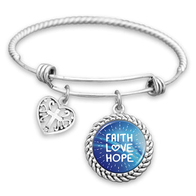 Faith, Love, Hope Charm Bracelet