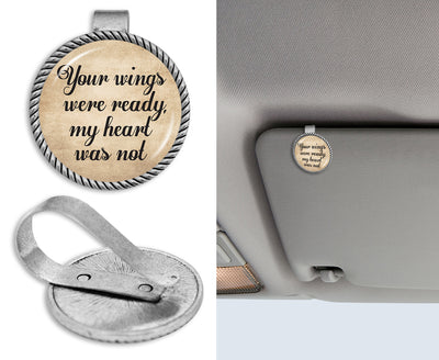 Your Wings Were Ready, My Heart Was Not Circle Auto Visor Clip