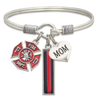 Firefighter Family Mom/Daughter/Wife Wire Trifecta Bracelet