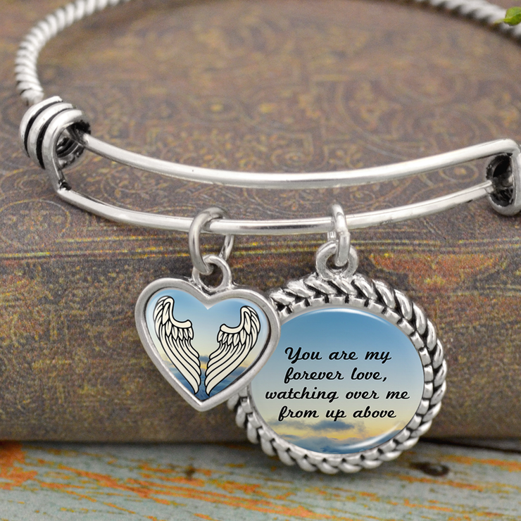 You Are My Forever Love, Watching Over Me From Up Above Charm Bracelet