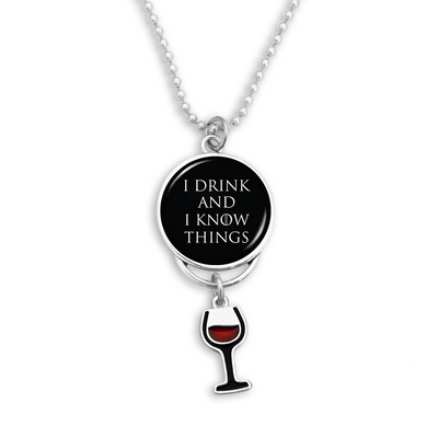 I Drink And I Know Things Rearview Mirror Charm