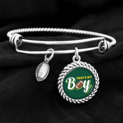 That's My Boy Football Charm Bracelet