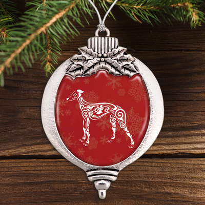 Fancy Greyhound Bulb Ornament