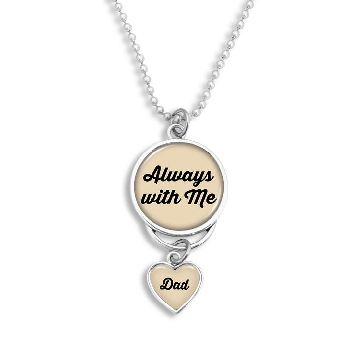 Always With Me Dad Rearview Mirror Charm