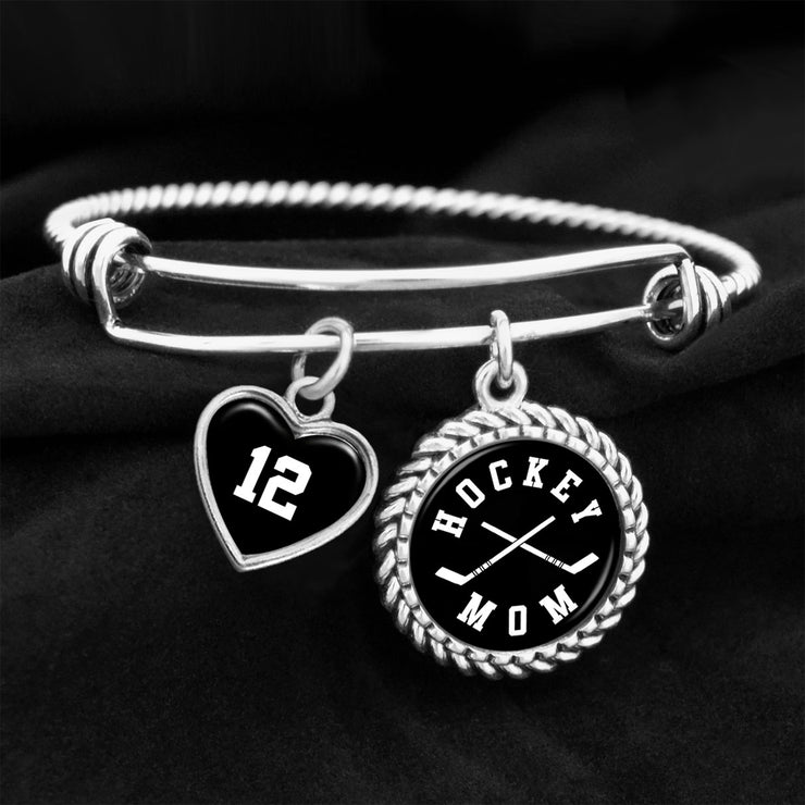 Hockey Mom Custom Number Charm Bracelet