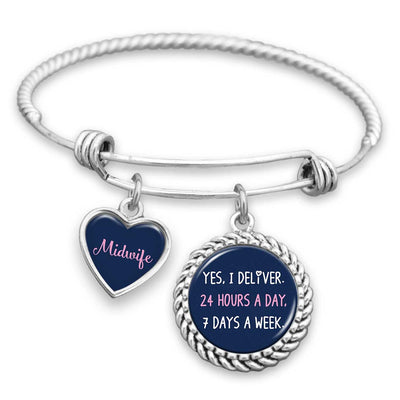 Yes, I Deliver Midwife Charm Bracelet