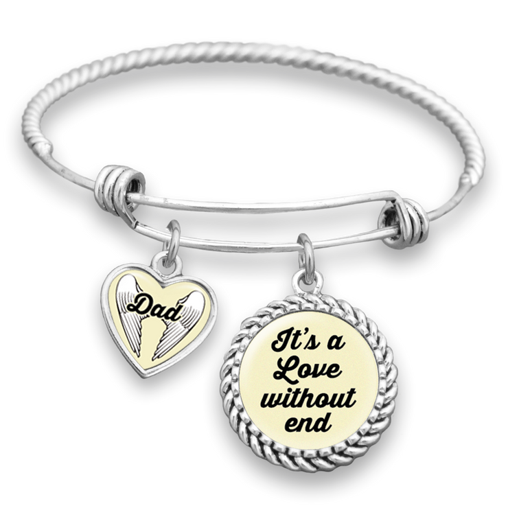 Dad - It's A Love Without End Charm Bracelet