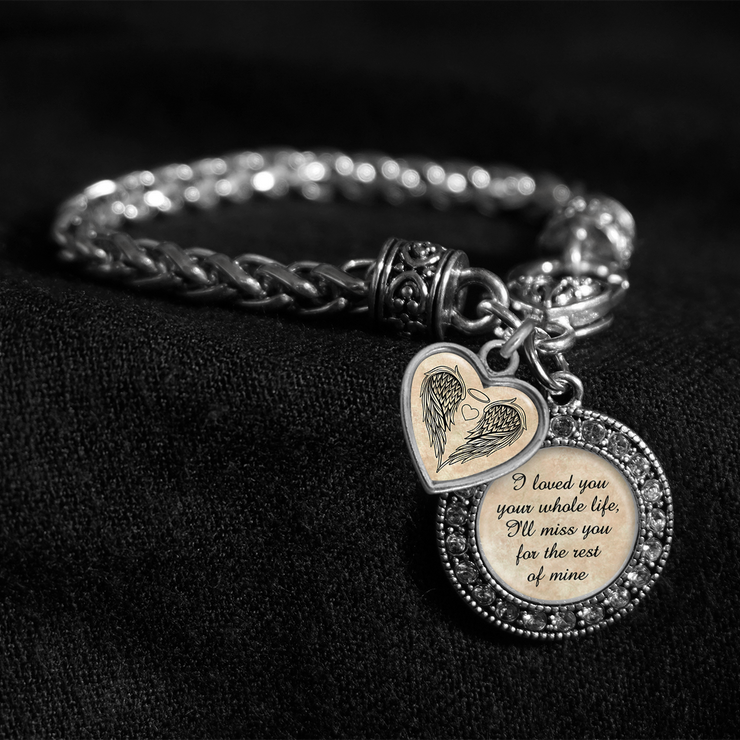 Your Whole Life Silver Braided Clasp Charm Bracelet
