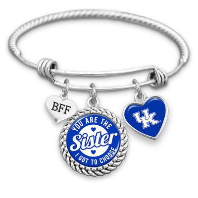 Kentucky Wildcats Sister I Got To Choose BFF Charm Bracelet