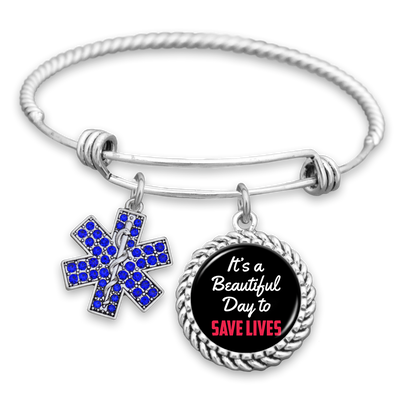 It's A Beautiful Day To Save Lives Charm Bracelet