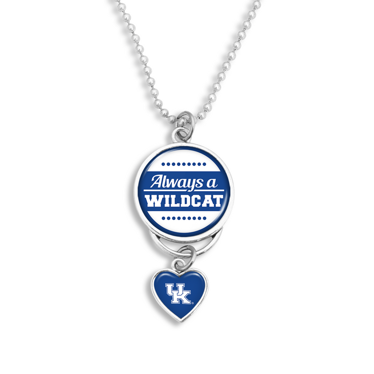 Kentucky Always A Wildcat Rearview Mirror Charm