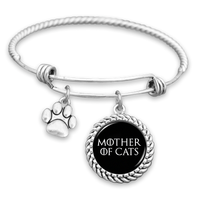 Mother Of Cats Paw Print Charm Bracelet