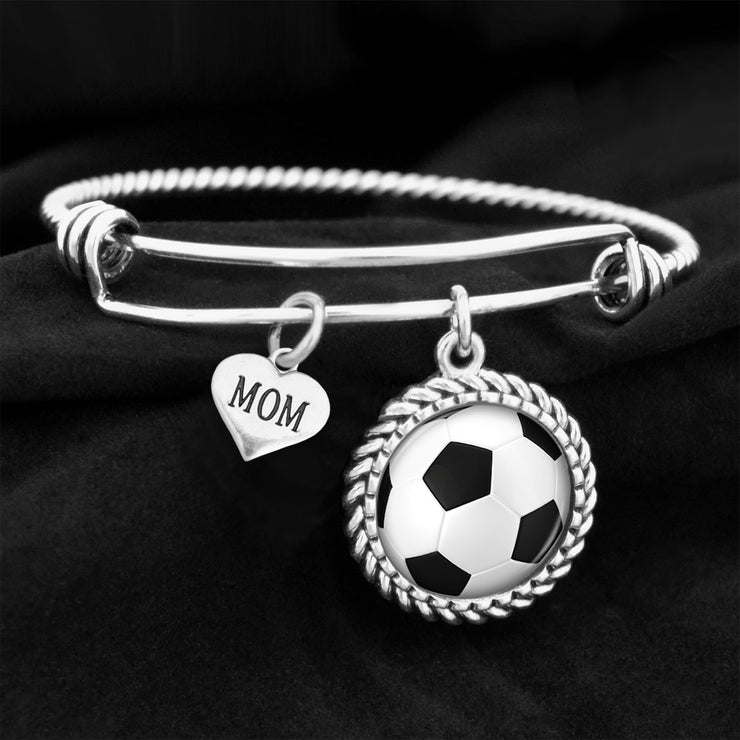 Sports Mom Soccer Charm Bracelet