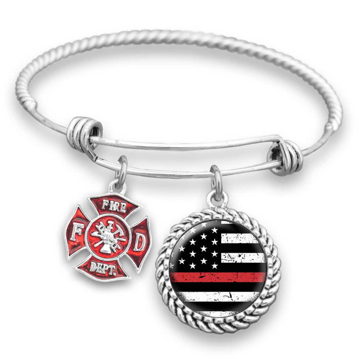 "Firefighter ""Thin Red Line"" Bracelet"