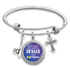 Just A Girl Who Runs On Jesus And Softball Charm Bracelet