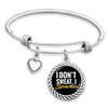 I Don't Sweat, I Sparkle Charm Bracelet