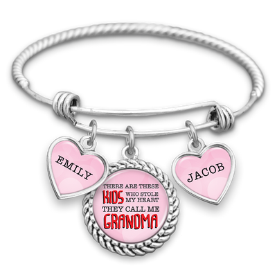 Kids Who Stole My Heart Customizable Charm Bracelet