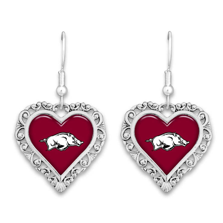 Arkansas Razorbacks Official Lace Trim Earrings